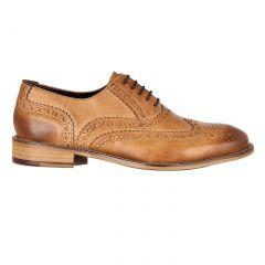 London Brogues Mens Gatsby WIDE Shoes - Tan