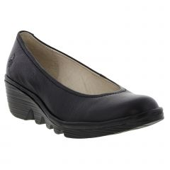 Fly London Womens Pumps Leather Wedge Slip On Shoes