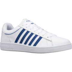 K-Swiss Mens Court Winston Leather Trainers - White Classic Blue