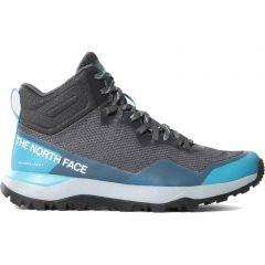North Face Womens Activist Mid Futurelight Waterproof Walking Boots - Zinc Grey Maui Blue