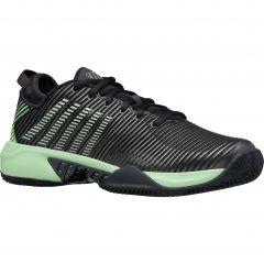 K-Swiss Mens Hypercourt Supreme HB Tennis Shoes - Graphite Soft Neon Green