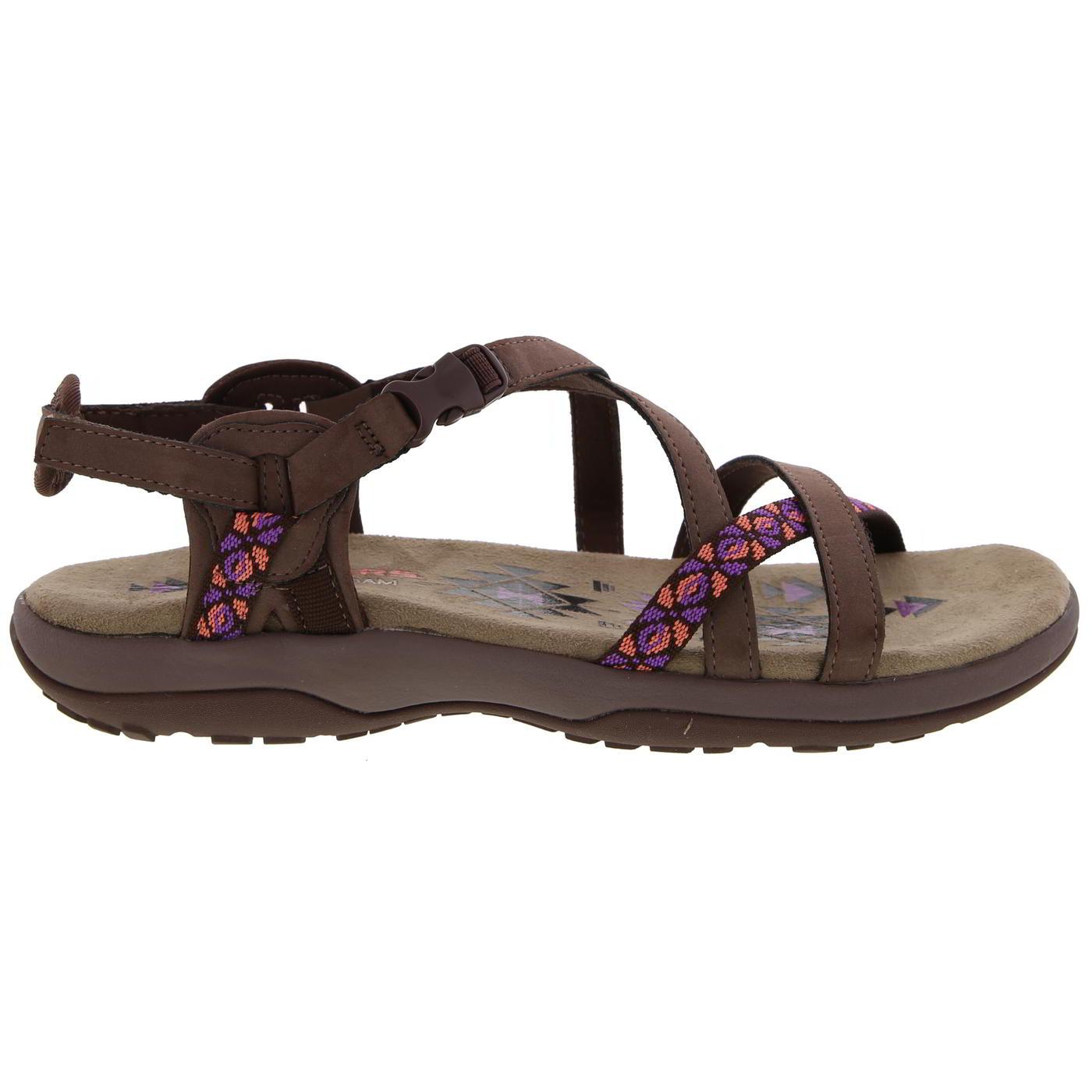 Skechers Womens Reggae Slim Vacay Adjustable Walking Sandals - Chocolate