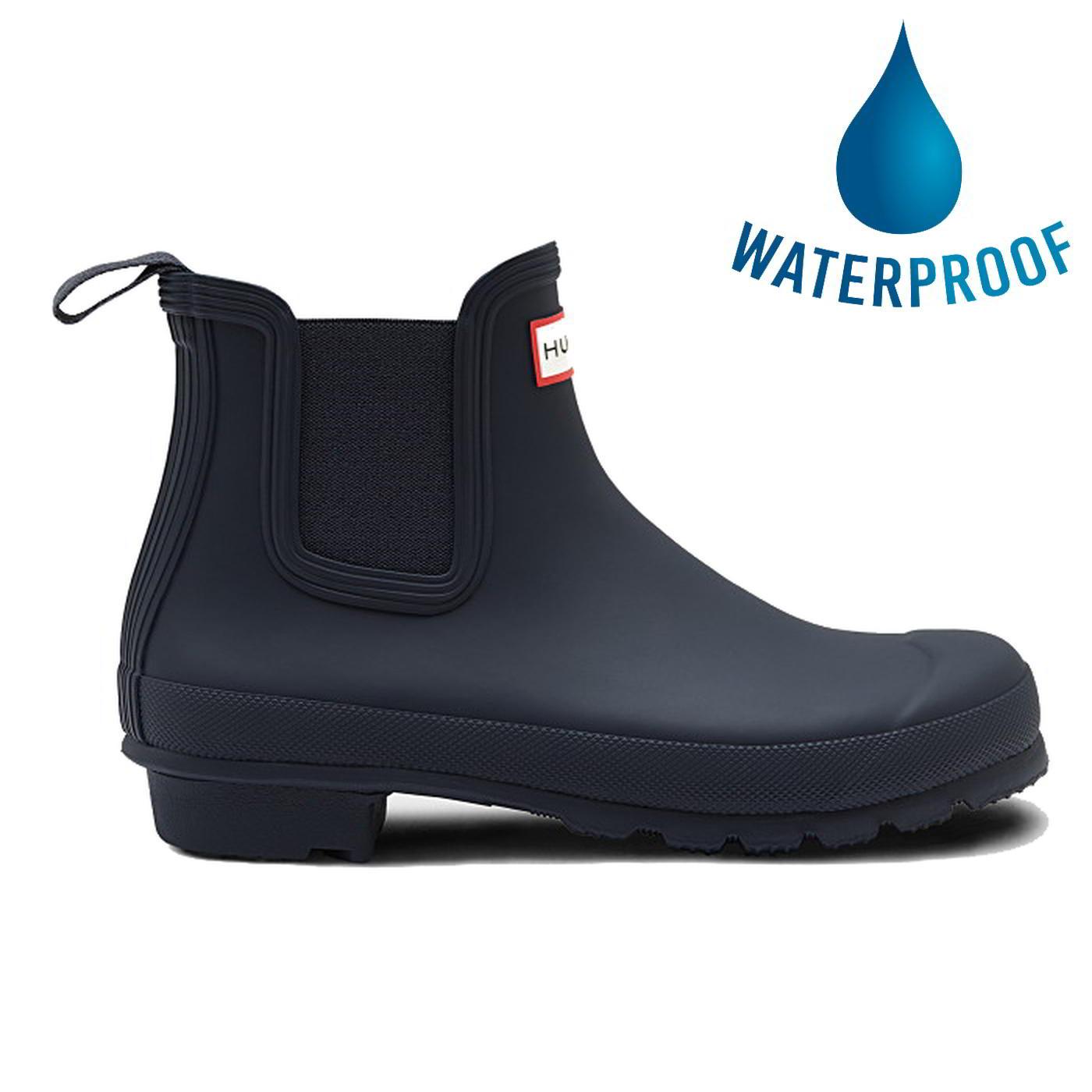 Hunter Womens Original Chelsea Short Wellies Rain Boots - Navy