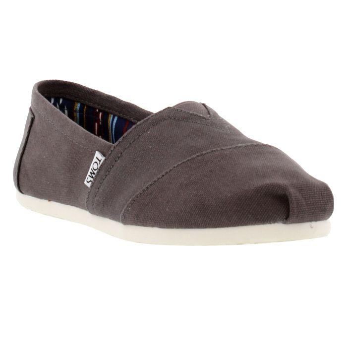 Toms Womens Alpargata Classic Espadrille Shoes - Ash Canvas
