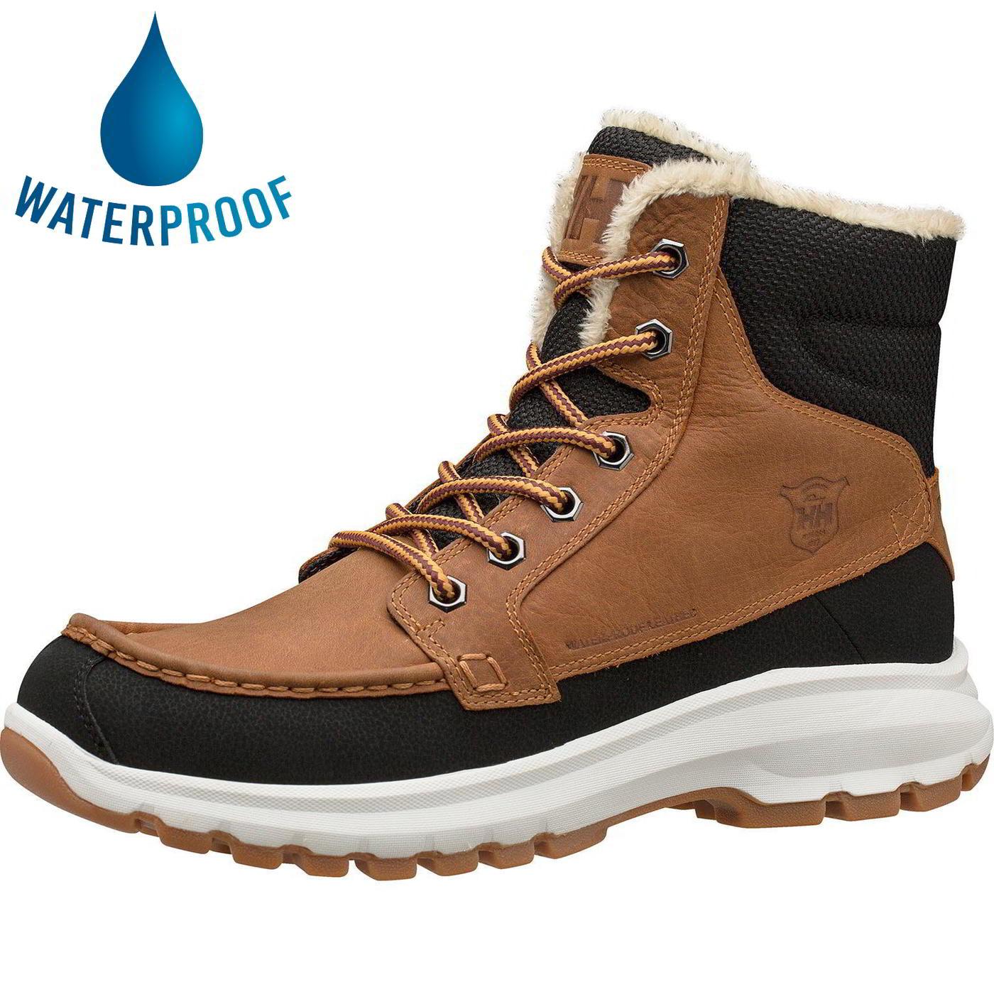 Helly Hansen Mens Garibaldi V3 Waterproof Boots - New Wheat Black Gum