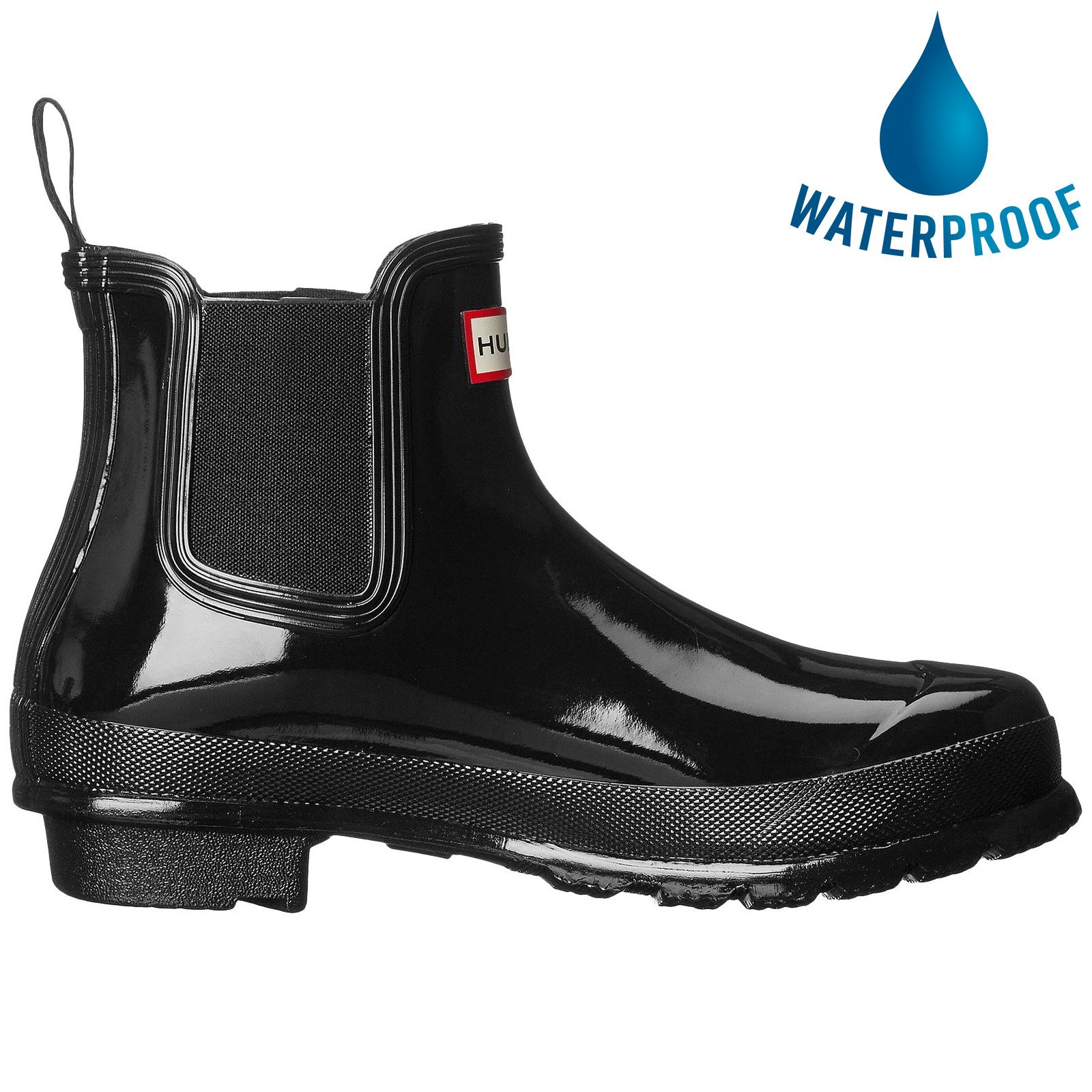 Hunter Womens Original Chelsea Gloss Wellington Boots - Black