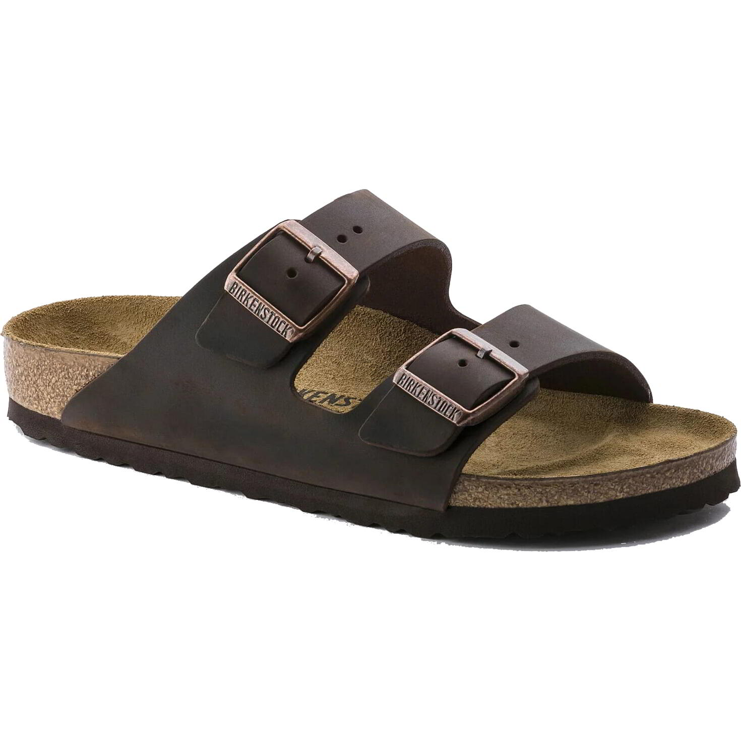 Birkenstock Mens Arizona Leather Sandals - Dark Brown