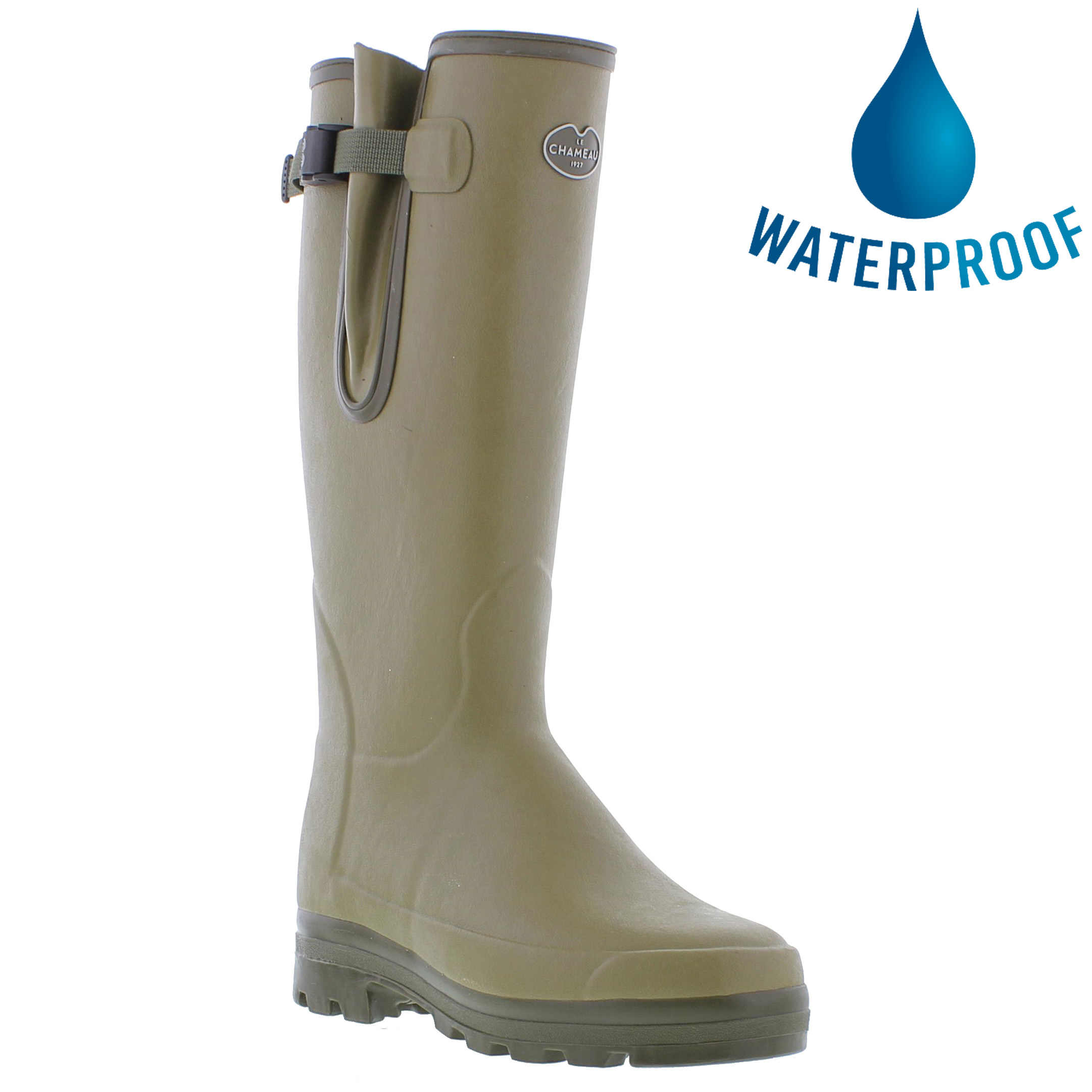 Le Chameau Mens Vierzonord Neoprene Lined Wellies Rain Boots - Vert