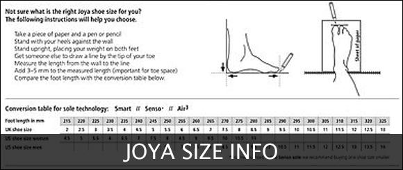 View Joya Size Info