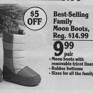 Vintage Moon Boots Ad